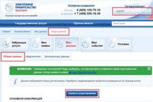 Удаление учетной записи на портале Госуслуг